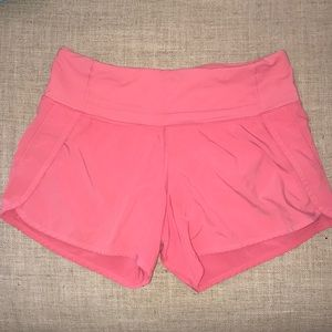 Pink lulu lemon shorts